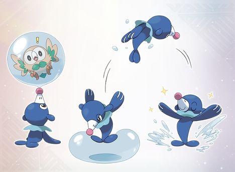 The Water type Pokemon Popplio