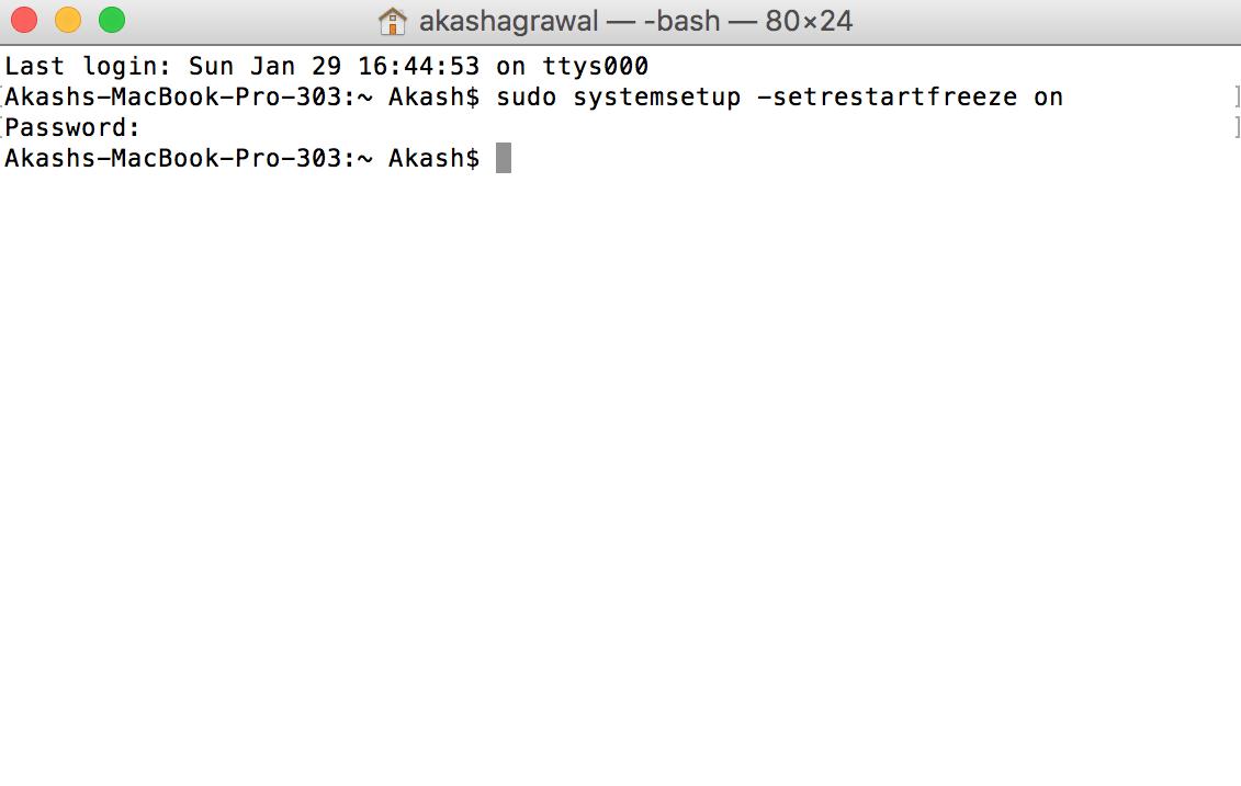 restart mac after crash