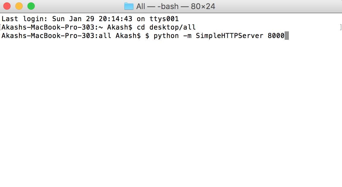 HTTP server in a folder