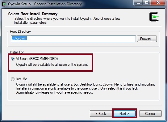 Setting the directory