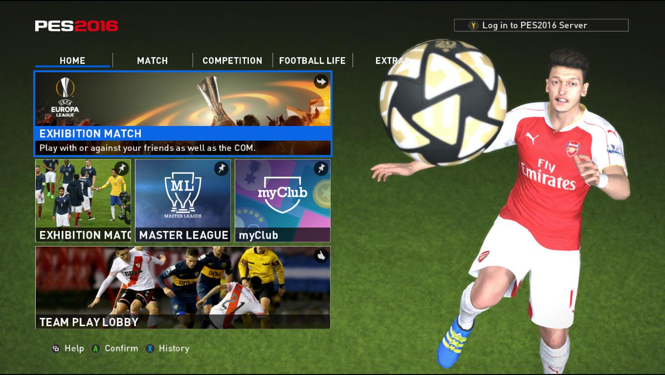 Welcome Screen of PES 2016
